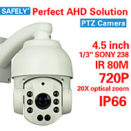 AHD Digital HD CCTV Outdoor Middle Speed PTZ Camera 1200TVL 720P 20X ZOOM 80M IR