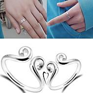 Gyűrűk Állítható Parti Ékszerek Női Vallomás gyűrűk 1db,Egy méret Ezüst