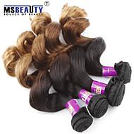 3 pièces / lot 7a 3t vierge malaisien vague lâche les cheveux de trame cheveux 100% vierge non traitée tisse
