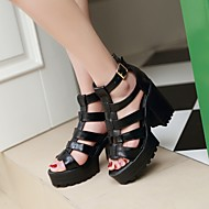 Women's Shoes Stiletto Heel Gladiator Sandals Office & Career/Dress Black/White