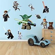 murali Stickers adesivi murali, cartone animato lego mostro robot della parete del PVC