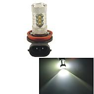 Carking™ H8/H11 80W 16SMD 2800ML 6000K White Light LED Fog Light Head Lamp Driving Bulb(DC 12V)