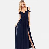 sexy vestido sin mangas maxi de la gasa de las mujeres