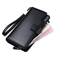 Men's Wallets Leather Purses  Wallets Wrist  Clutch Purse Cowhide Bi-fold Clutch Card & ID Holder