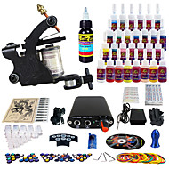 Solong Tattoo Complete Tattoo Kit 1 Pro Machine Guns 28 Inks Power Supply Needle Grips Tips