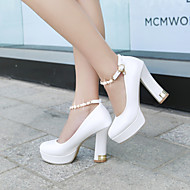 Women's Shoes Fleece / Leatherette Chunky Heel Heels / Platform Heels Office & Career / Party & Evening / Dress