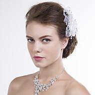 Women Organza/Net Flowers With Multi-stone Wedding/Party Headpiece