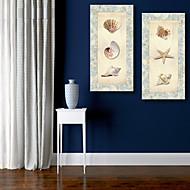 e-Home® venytetty kankaalle taidetta kotilo kuoret ja meritähti koriste maalaus sarja 2