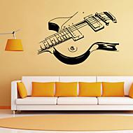 nástěnné samolepky lepicí obrazy na stěnu ve stylu osobnosti kytara PVC samolepky na zeď