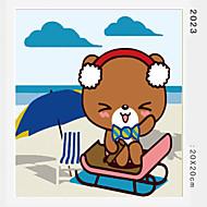 peinture à l'huile numérique bricolage en bois massif avec la peinture de plaisir en famille de cadre tout seul ours beauté 2023