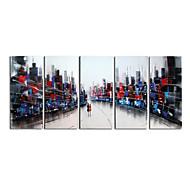 Handgemalte Wanddekor verrückten Welt-Ölgemälde auf Segeltuch 5pcs / set (ohne Rahmen)