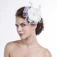 Přílba Ženy Květiny Svatba/Zvláštní příležitost Organza/Síť Svatba/Zvláštní příležitost Jeden díl