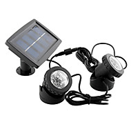 Solar Power Waterproof Bright Garden Yard Pool Double Lamp Spot Flood Light