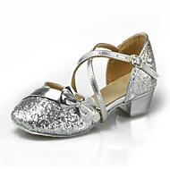 Non Customizable Women's / Kids' Dance Shoes Leatherette / Paillette Leatherette / Paillette Modern / Ballroom Heels Low HeelPractice /