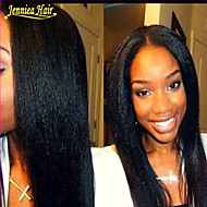 pelucas virginales peruanas del pelo humano de encaje completo rizado pelo recto hman frente del cordón de las pelucas no procesada u