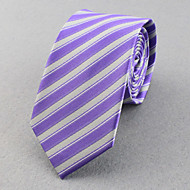 Gravatas (Azul Claro , Poliéster) Listrado/Forma Livre