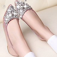 Women's Shoes Flat Heel Comfort/Closed Toe Flats Casual Pink/Silver/Gold
