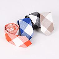 New Fine Linen Grid Tie LT001