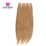 50pcs / lot 100 gram stock Lichtfarbe mongolischen remy Tape Haarverlängerungen in 20-Zoll-Haut PU Schuss Haarverlängerungen neu !!!