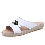 Women's Summer Comfort Leather Casual Flat Heel Blue / Yellow / White