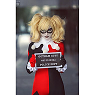 perruque cosplay Batman Harley Quinn court Anime blonds perruques de cheveux de cosplay or