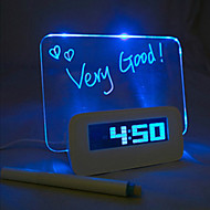 Alarme LED Night Light Clock Babillard Interchanger Couleurs 5V 3 * Interface USB AAA DC