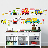 Bande dessinée Forme Transport Stickers muraux Stickers avion Stickers muraux décoratifs Matériel Lavable Amovible Décoration d'intérieur