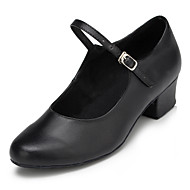 Non Customizable Women's Dance Shoes Modern Flocking Low Heel Black