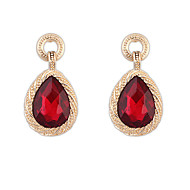 Women's Imitation Gemstone Water Droplets Acrylic Drop Earrings