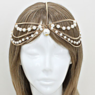 Women Imitation Pearl/Alloy Fashion Head Chain With Casual Headpiece Gold/Silver