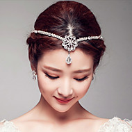 Elegant Rhinestones Wedding/Party Headpieces/Forehead Jewelry with Imitation Pearls