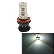Carking™ H8/H11 60W 12SMD 2800ML 6000K White Light LED Fog Light Head Lamp Driving Bulb(DC 12V)