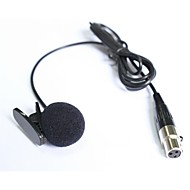עניבת דש cardioid איכותית קליפ-ב3pin XLR מיקרופון הקבל lavalier