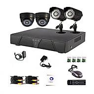 4 Canal Principal y Sistema DVR CCTV DIY Oficina (P2P Online, 4 D1 grabación)