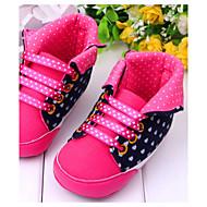 סניקרס אופנתיים - נעלי תינוק - קז'ואל - בד - ורוד / אדום