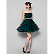 TS Couture® Cocktail Party / Company Party Dress Plus Size / Petite A-line Sweetheart Knee-length Tulle with Side Draping