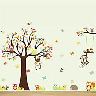 Animals / Cartoon Wall Stickers Plane Wall Stickers Decorative Wall Stickers,PVC Material Re-Positionable Home Decoration Wall Decal