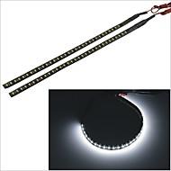 2pcs carking ™ 1210-32smd-30 centímetros 3.8w 125ml carro à prova d'água flash de decorativo lâmpada strip (DC 12V)
