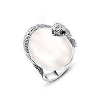 Women's Fashion Snake Imitation Pearl Alloy Ring