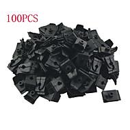 k049 100 개 자동차 자동차 플라스틱 5mm 구멍 플러그 지퍼 후드 소품로드 지원 클립