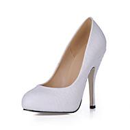 Women's Heels Spring Fall Comfort Light Up Shoes PU Wedding Dress Party & Evening Stiletto Heel White