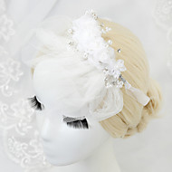 Women's/Flower Girl's Rhinestone/Imitation Pearl/Chiffon Headpiece - Wedding/Special Occasion Headbands 1 Piece