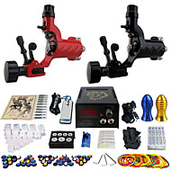 Solong Tattoo Complete Kit with 2 Rotary Tattoo Machines Professional Tattoo Kits 20 inks gift
