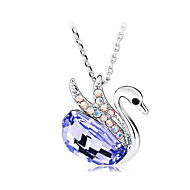 European Style Fashion Swan Dance Crystal Necklace