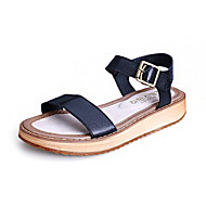 Girls' Shoes Dress / Casual Slingback / Comfort / Open Toe Leather Sandals Black / White
