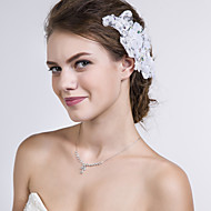 Women Lace Flowers With Rhinestone Wedding/Party Headpiece