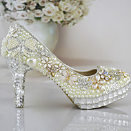 Women's Shoes Stiletto Heel Heels Pumps/Heels Wedding/Office & Career/Party & Evening/Dress White