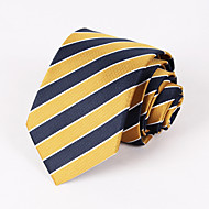 Yellow And Navy Blue Striped Tie #PT065