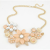 MISSING U Vintage / Party Alloy / Rhinestone / Resin Statement Necklace