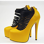 Women's Shoes Leatherette Stiletto Heel Heels/Platform/Round Toe Pumps/Heels Party & Evening/Dress Yellow